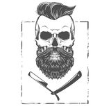 Brodata czaszki ilustracja