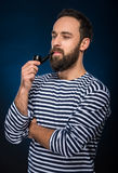 brodaty mężczyzna Zdjęcia Stock
