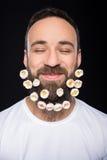 brodaty mężczyzna Zdjęcie Royalty Free