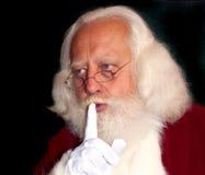 Brodaty Santa mówi Shhh! Fotografia Stock