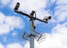 Broddade CCTV-kameror Arkivbild
