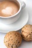 Koffie en broden Royalty-vrije Stock Fotografie