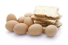 Broden en eieren Royalty-vrije Stock Afbeeldingen
