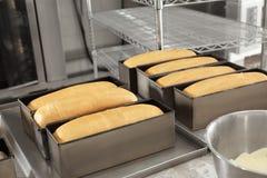 Broden van brood bij het opschorten Royalty-vrije Stock Foto