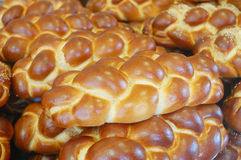 Broden van challahbrood Royalty-vrije Stock Foto