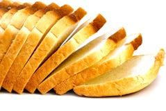 Broden van geïsoleerd brood Royalty-vrije Stock Foto's