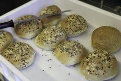Broden voor hamburgers Royalty-vrije Stock Foto's