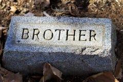 Broder Granite Gravestone Marker Royaltyfria Bilder