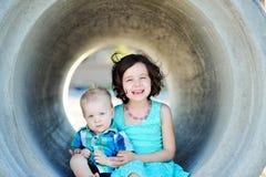 Broder And Sister Love Arkivfoto