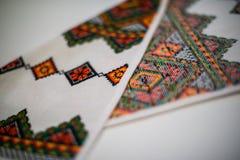 broderad handduk Royaltyfri Foto