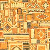 Broderad sömlös patchworkmodell bohemisk prydnad Ethni vektor illustrationer
