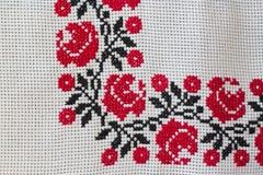 Broderad tablecloth Fotografering för Bildbyråer