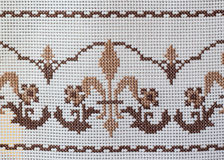 Broderad tablecloth Royaltyfri Bild