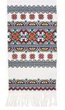 broderad traditionell ukrainare för handduk Arkivbild