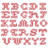 Broderat alfabet Arkivbilder