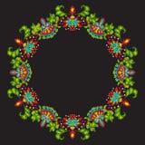 Broderi med dekorativa beståndsdelar för tappning vektor illustrationer