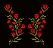 Broderia na tkaninach ilustracji