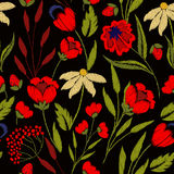 Broderia na tkaninach royalty ilustracja
