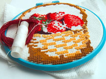 Broderie Images stock