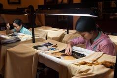 Broderie au Vietnam Images libres de droits