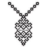 Broderie aztèque de collier de vecteur pour des femmes de mode Copie tribale ou web design de modèle de pixel bijoux, illustration stock