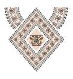 Broderie aztèque de collier de vecteur pour des femmes de mode Copie tribale ou web design de modèle de pixel bijoux, sur le tiss illustration libre de droits