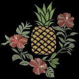 Broderie d'ananas - vecteur, illustration Illustration de Vecteur