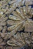Broderie d'or de vintage avec le modèle floral Photo stock