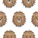 Broderie Lion Seamless Pattern Photo libre de droits