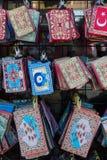 Broderie nationale traditionnelle, avec des motifs et des modèles folkloriques Image stock