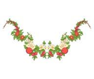 Broderie pour la ligne de collier Ornement floral dans le style de vintage Photo stock