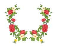 Broderie pour la ligne de collier Ornement floral dans le style de vintage Photos stock