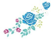 Broderie Rose Ornament Photo libre de droits