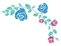 Broderie Rose Ornament Images stock