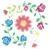 Broderie Rose Ornament Photographie stock libre de droits