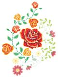 Broderie Rose Ornament Photo stock