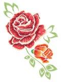 Broderie Rose Ornament Image libre de droits