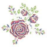 Broderie Rose Ornament Image stock