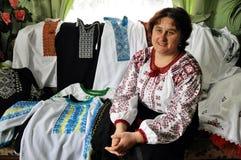 Broderie Tatiana Drohomyretska Images libres de droits
