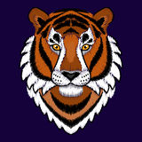 Broderie Tiger Head Image stock