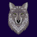 Broderie Wolf Head Photographie stock libre de droits