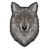 Broderie Wolf Head Patch Photographie stock libre de droits