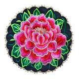 Broderii odznaki różana wycinanka zdjęcia royalty free