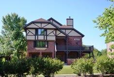 Broderskap- och kvinnoföreninghus på den Iowa delstatsuniversitetet royaltyfri foto