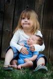 brodersyster Royaltyfria Bilder