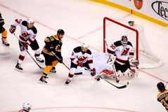 Brodeur makes the save. (NHL Hockey) Royalty Free Stock Photography