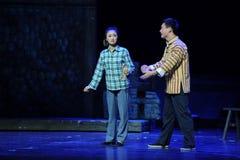 Brodez l'opéra de Jiangxi de soeur de semelle intérieure une balance Images stock