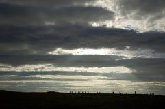 brodgar orkneys敲响苏格兰 免版税库存图片