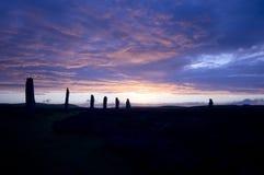 brodgar orkneys敲响苏格兰 免版税图库摄影