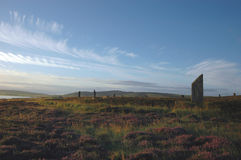 brodgar orkneys环形苏格兰 免版税库存照片